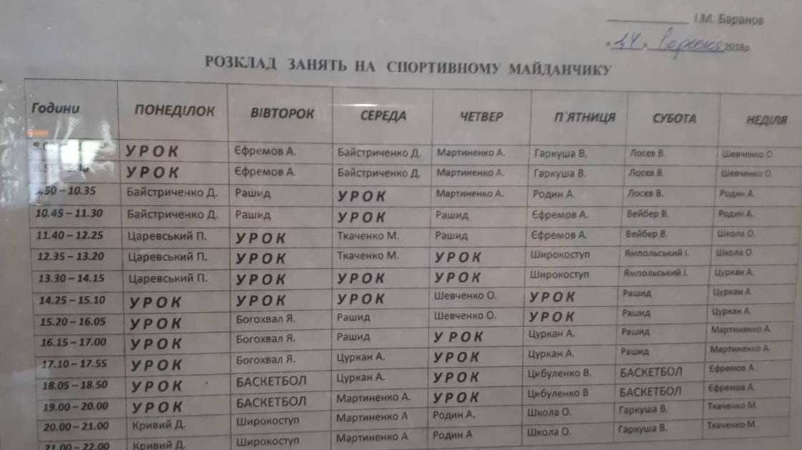 Расписание занятости площадки КультПросвета Александрии