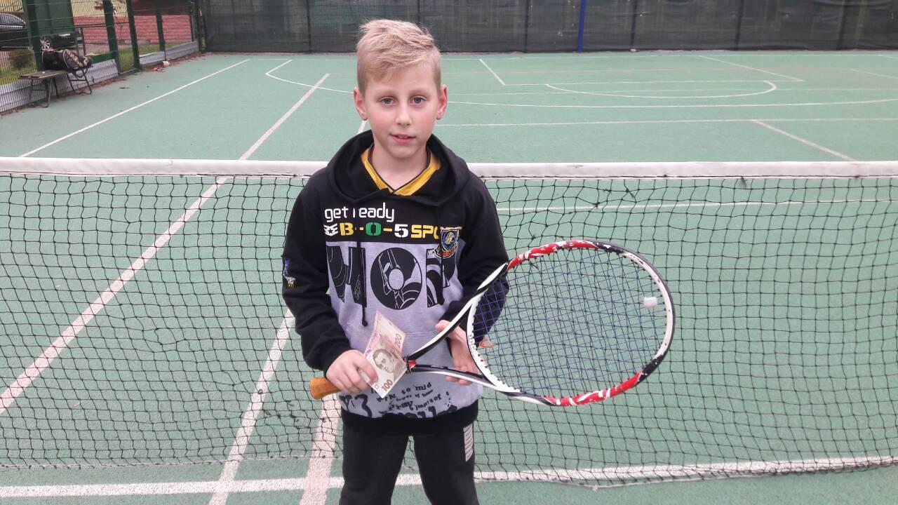 Чемпион Александрии по большому теннису среди детей